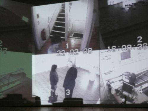 """Visitors to a Gallery""- Exhibition. Plymouth Arts Centre. Surveillance in the Art Gallery"