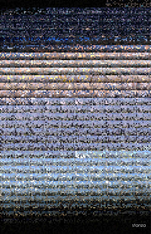 Stanza. Los Angeles CCTV Media Visualisation 2005. Large print On Canvas.