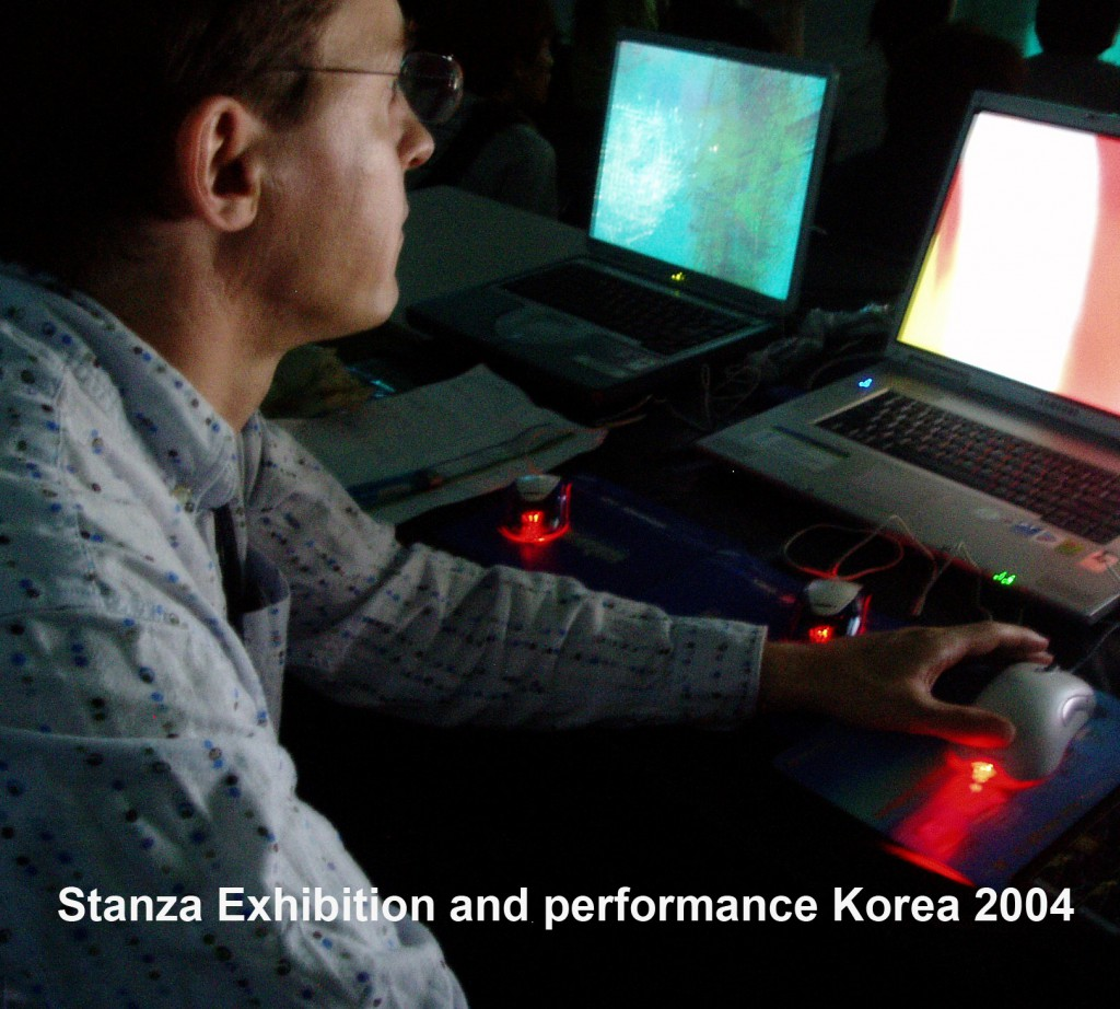 Stanza Performs In Korea In 2004. Stanza at work.