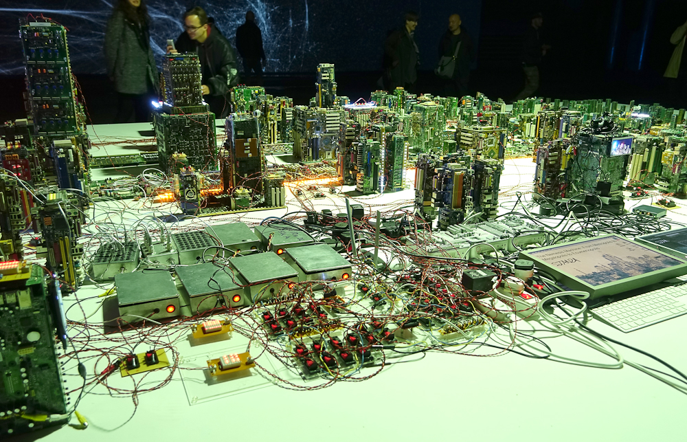 The Nemesis Machine. Artwork By Stanza. Smart city.